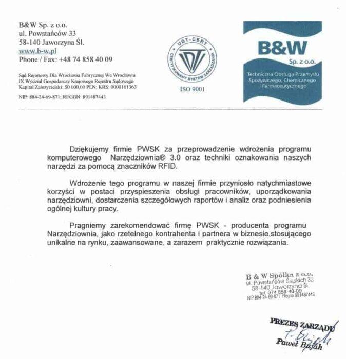 B&W case study