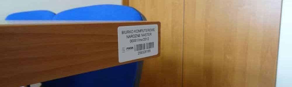 etykieta inwentaryzacyjna - biuro
