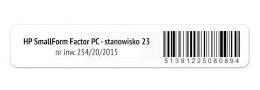 Etykieta RFID do inwentaryzacji z zadrukiem