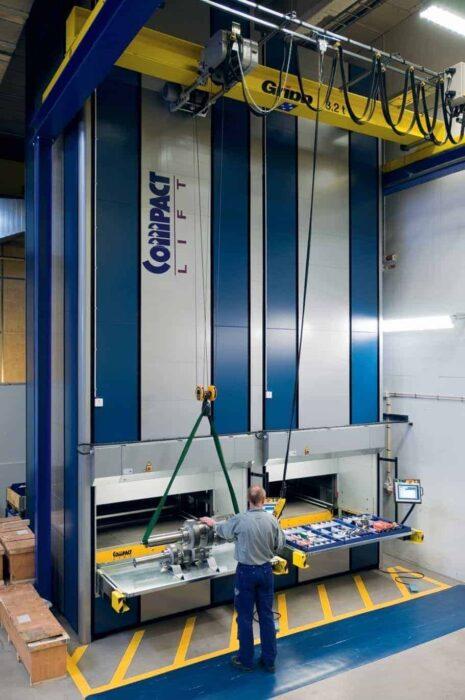 Regał Windowy i magazyn wysokiego składowania weland compact lift